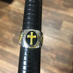 Other - Retro Vintage Style Holy Cross Ring Size 13